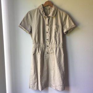 J. Crew Safari Shirtdress in Khaki